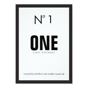 Black white 1st birthday invitations zazzle black white fashion theme 1st birthday party invitation filmwisefo