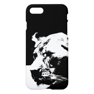 Black & white female lion pop art iPhone 7 case