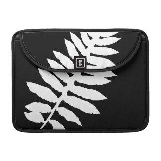 Black & White Fern Leaf Silhouette MacBook Sleeve Sleeves For MacBook Pro