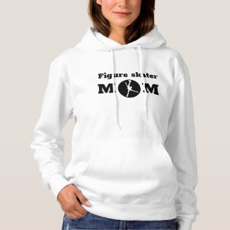 Black white Figure skater mom hoodie
