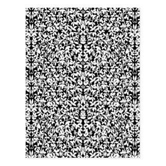 Black & White Filigree Postcard