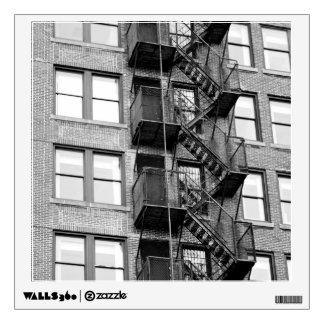 Black & White Fire Escape Wall Decal