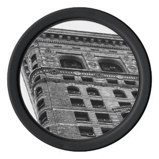 Black & White Flatiron Building Photo in NYC Poker Chip Set