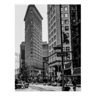 Black & White Flatiron Building Photo in NYC Postcard