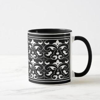 Black & White Fleu-=de-lis Mug
