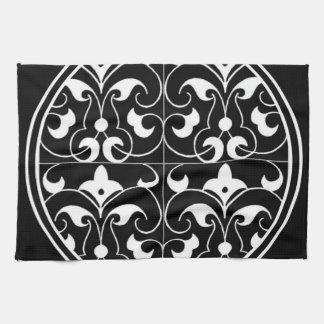 Black & White Fleur-De-Lis American MoJo Kitchen T Kitchen Towel