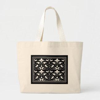 Black & White Fleur-de-lis Bag
