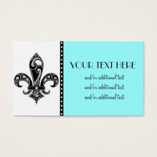Fleur de lis business cards templates zazzle black white fleur de lis business card colourmoves
