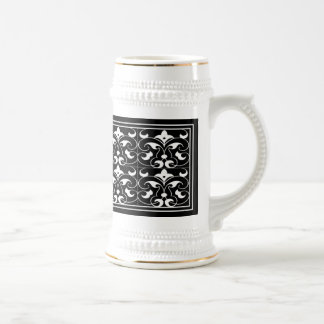 Black & White Fleur-de-lis Stein