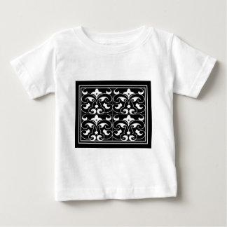 Black & White Fleure De Lis Baby T-Shirt