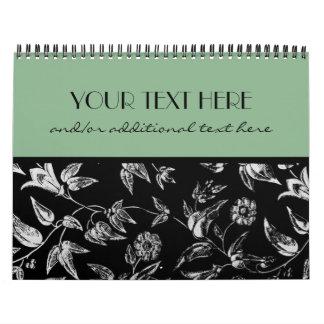 Black & White Floral Calendar