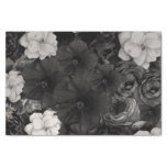 Black&white Floral Collage Tissue Paper at Zazzle