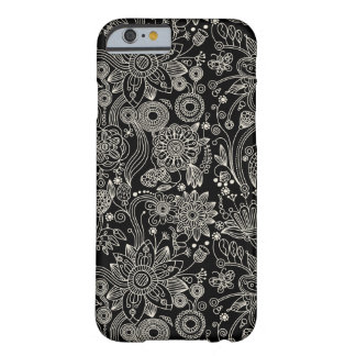 Black & White Floral Damask Pattern iPhone 6 Case