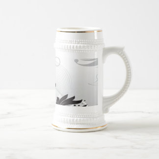 Black & White Floral Finesse Mugs