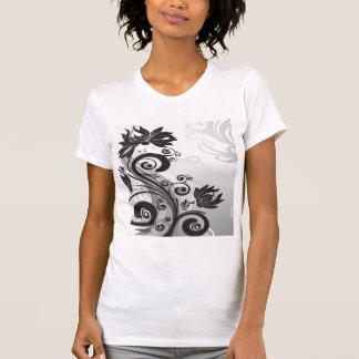 Black & White Floral Finesse T-Shirt