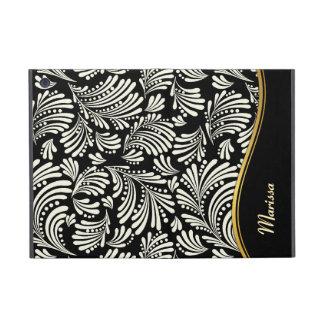 Black White Floral Folio iPad Mini iPad Mini Covers