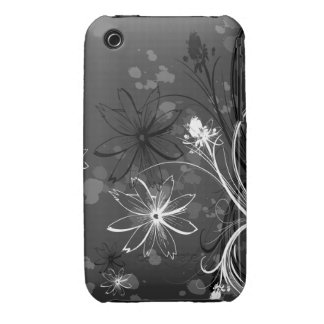 Black & White Floral iPhone 3 Cases