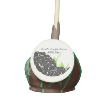 black white floral Personalized Cake pops