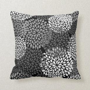 Black Chrysanthemum Pillows Decorative Throw Pillows Zazzle