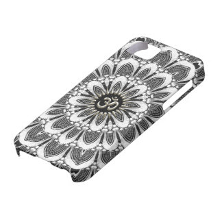 Black+White Floral Silver Om Case-Mate iPhone 5