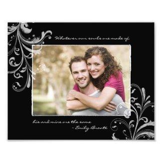 Black White Floral Template Photographic Print photoenlargement