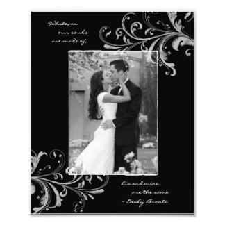 Black White Floral Template Photographic Print