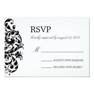 BLACK & WHITE FLOURISH | WEDDING RSVP CUSTOM INVITES