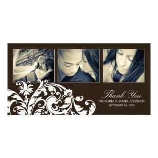 BLACK & WHITE  FLOURISH | WEDDING THANK YOU CARD
