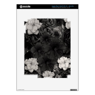 Black&White Flower Collage iPad 3 Decal