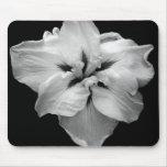Black & White Flower Mouse Pad