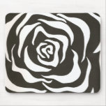 black & white flower mouse pads