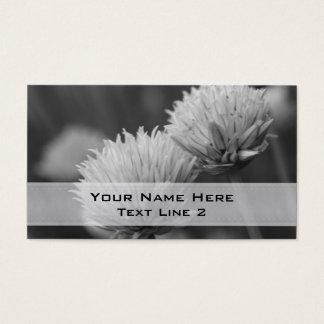 Black White Flower Pair Business Card