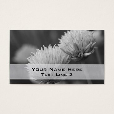 Professional Business Black White Flower Pair Business Card