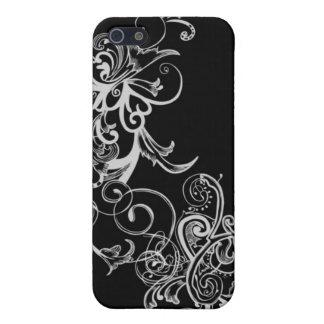 Black & White Flower Swirl iPhone SE/5/5s Case