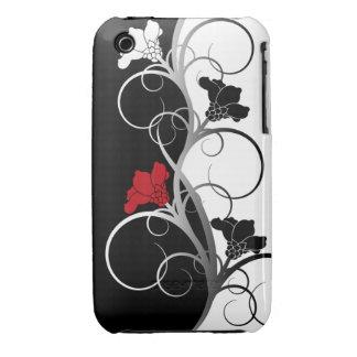 Black/White Flowers 3G/3GS Case