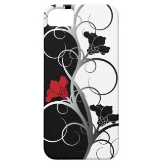 Black/White Flowers iPhone 5/5S Case
