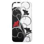 Black/White Flowers iPhone case