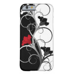 Black/White Flowers iPhone case Barely There iPhone 6 Case