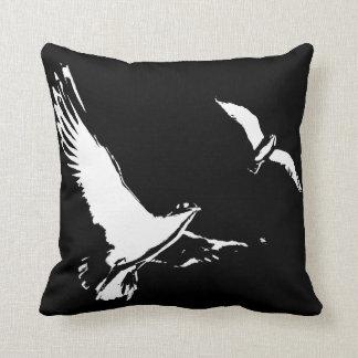 Black & White Flying Birds - Cushion