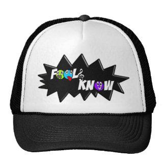 Black/White Fools Know Hat