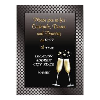 Black & White Formal Cocktail Party Invitation