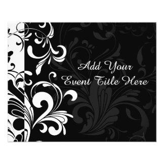 Black White Fountain Swirl Party Flyer