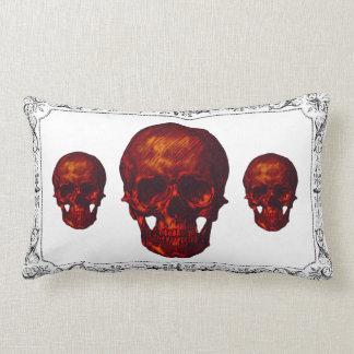 Black White Framed Halloween Skulls Pillows