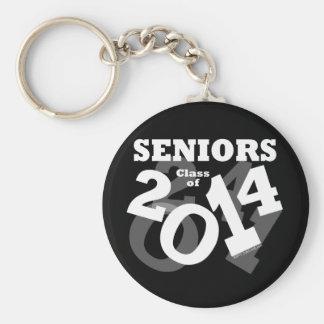 Black/White Fun Senior Class of 2014 Graduation Key Chain