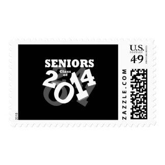 Black/White Fun Senior Class of 2014 Graduation Postage Stamp