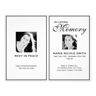 free obituary program template download