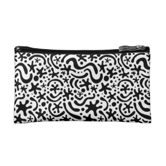Black & White Funky Blob & Squiggle Pattern Bag