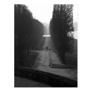 Black & White Gardens of Versailles Postcard