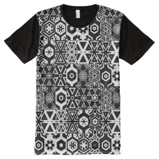 Black & White Geometric 4Clarence All-Over-Print Shirt