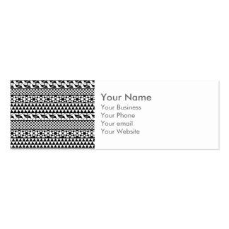 Black White Geometric Aztec Tribal Print Pattern Business Card